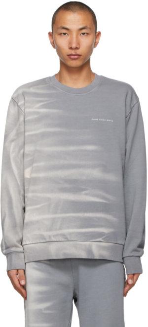 Feng Chen Wang Grey Tie-Dye Sweatshirt