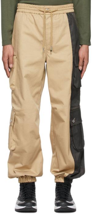 Feng Chen Wang Khaki & Black Twill Cargo Pants
