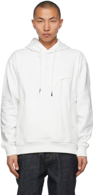 Feng Chen Wang White French Terry Hoodie