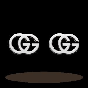GG Tissue 18ct Gold Stud Earrings