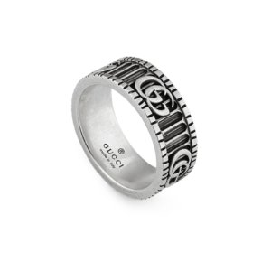 Gg Marmont Sterling Silver Ring - Ring Size K