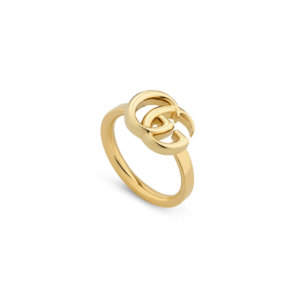 Gg Running Yellow Gold Ring - Ring Size K
