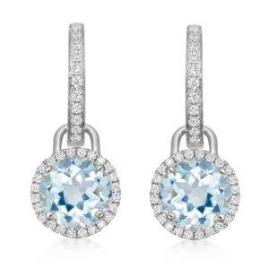 Grace 18ct White Gold, Blue Topaz & Diamond Mini Detachable Drops Earrings