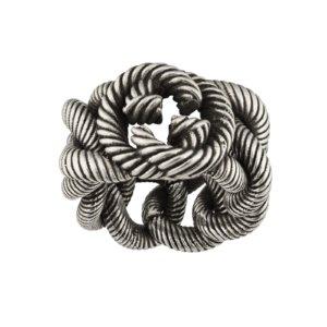 Groumette Interlocking G Silver Ring - Ring Size P