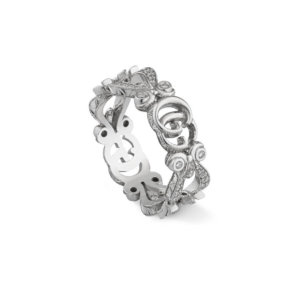 Gucci 18ct White Gold Diamond Flora Ring - Ring Size M