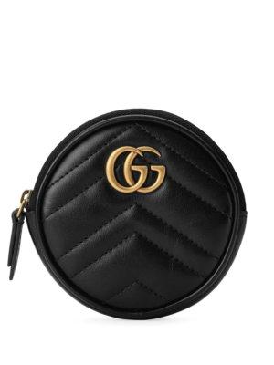 Gucci GG Marmont coin purse - Black