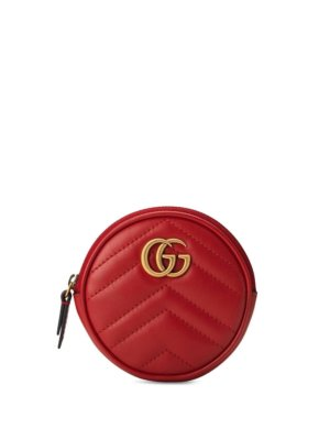 Gucci GG Marmont coin purse - Red