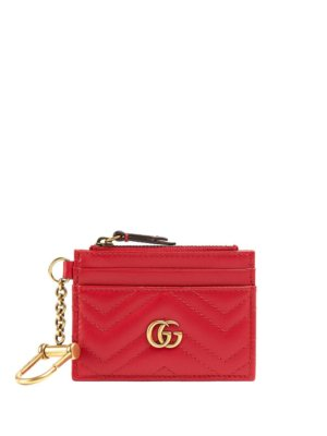 Gucci GG Marmont compact wallet - Red
