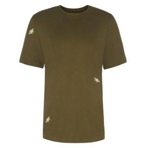 INGMARSON - Bee Embroidered T-Shirt Khaki Green Men