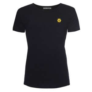 INGMARSON - Daisy Embroidered T-Shirt Black