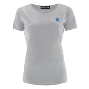INGMARSON - Daisy Embroidered T-Shirt Grey