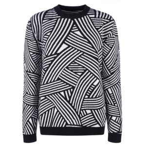 INGMARSON - Geometric Striped Merino Wool Jumper Men