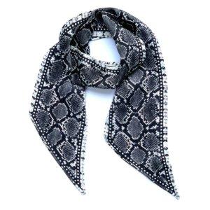 INGMARSON - Snakeskin Silk Neck Scarf Grey