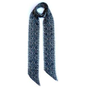 INGMARSON - Snakeskin Silk Neck Scarf Long Grey