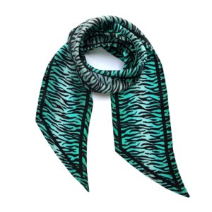 INGMARSON - Tiger Silk Neck Scarf Biscay Green