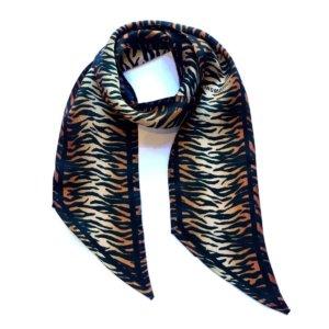 INGMARSON - Tiger Silk Neck Scarf Burnt Orange