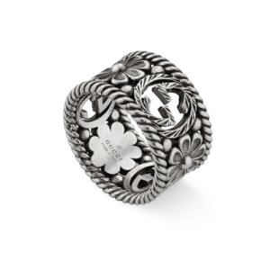 Interlocking G Silver Ring - Ring Size L