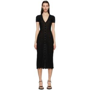 Jacquemus Black La Robe Cardigan Dress