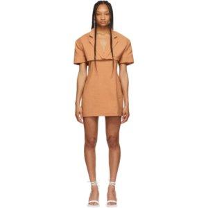 Jacquemus Brown La Robe Gardian Dress