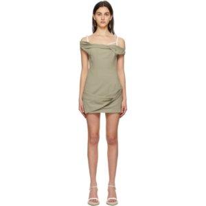 Jacquemus Green La Robe Foglio Dress