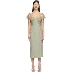 Jacquemus Green La Robe Tovallo Dress