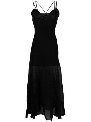 Jacquemus La Robe Basgia ankle-length dress - Black