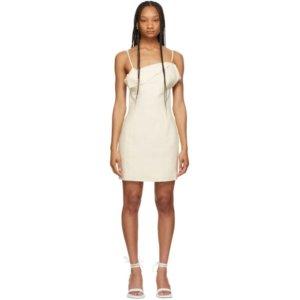 Jacquemus Off-White La Robe Drap Dress