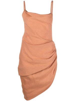 Jacquemus Saudade asymmetric dress - Neutrals