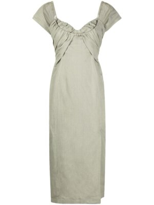 Jacquemus fitted midi dress - Green