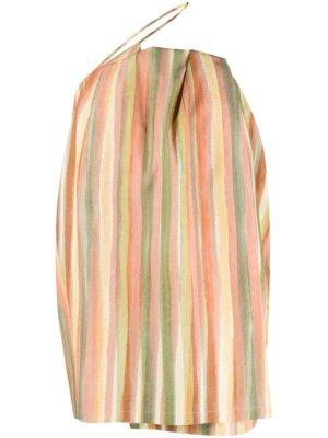 Jacquemus striped Sun dress - Orange