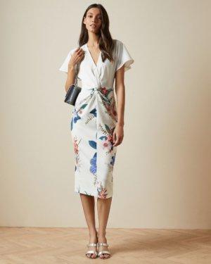 Jamboree Twist Detail Midi Dress
