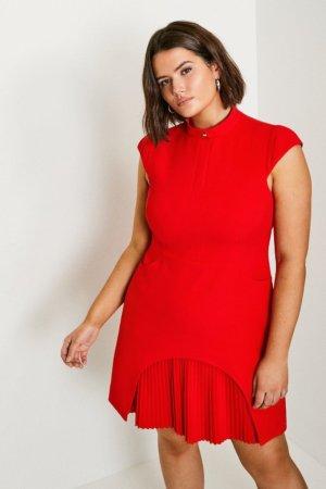 Karen Millen Curve Military TailoDress -, Red