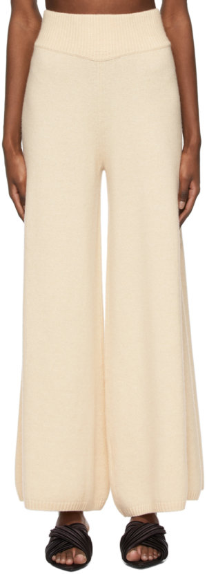 Khaite Beige Cashmere 'The Rachelle' Trousers