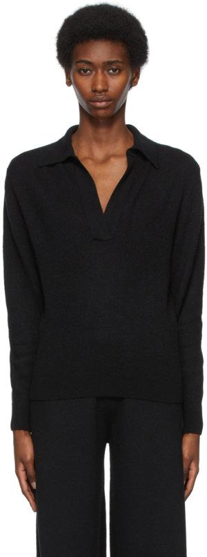 Khaite Black Cashmere 'The Jo' Sweater