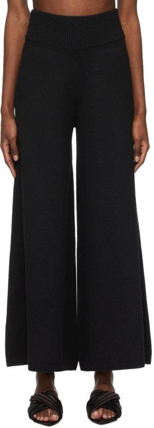 Khaite Black Cashmere 'The Rachelle' Trousers
