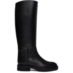Khaite Black The Derby Boots