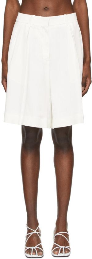 Khaite Off-White Crêpe 'The Isabelle' Shorts