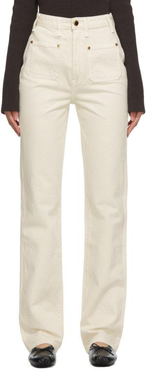 Khaite Off-White Isabella Jeans