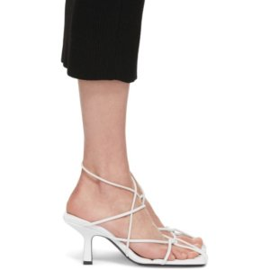 Khaite White The Monza Heeled Sandals