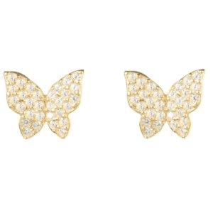 LATELITA - Butterfly Stud Earring Gold