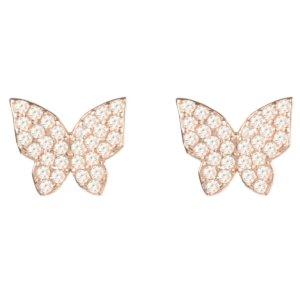 LATELITA - Butterfly Stud Earring Rose Gold