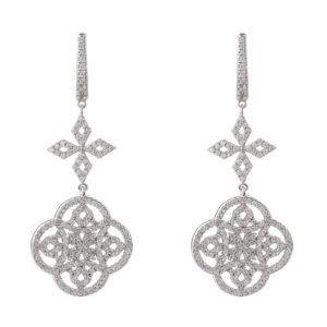 LATELITA - Celtic Knot Clover Drop Earrings Silver