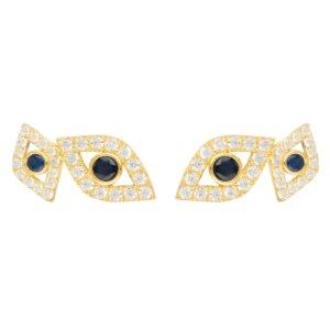 LATELITA - Eye Stud Earrings Gold