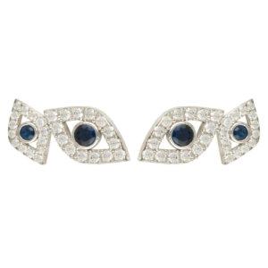 LATELITA - Eye Stud Earrings Silver