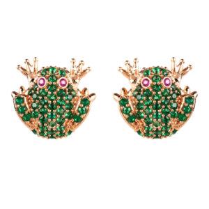 LATELITA - Frog Prince Stud Earrings Rosegold
