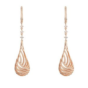 LATELITA - Glistening Dewdrop Earring Rose Gold