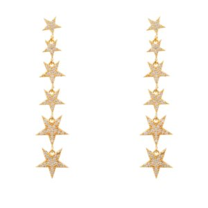 LATELITA - Graduated Star Drop Earring Gold