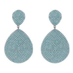LATELITA - Monte Carlo Earring Aqua Blue Silver
