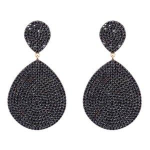 LATELITA - Monte Carlo Earring Gold Black Zircon