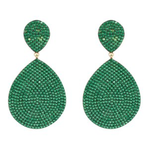 LATELITA - Monte Carlo Earring Gold Emerald Zircon